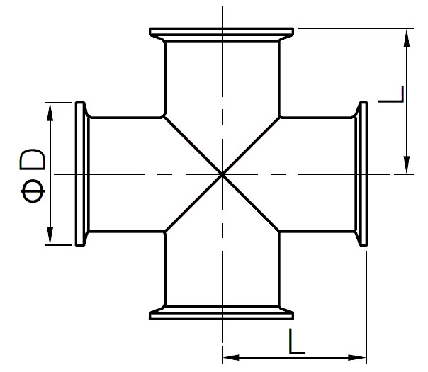 sanitary clamp cross