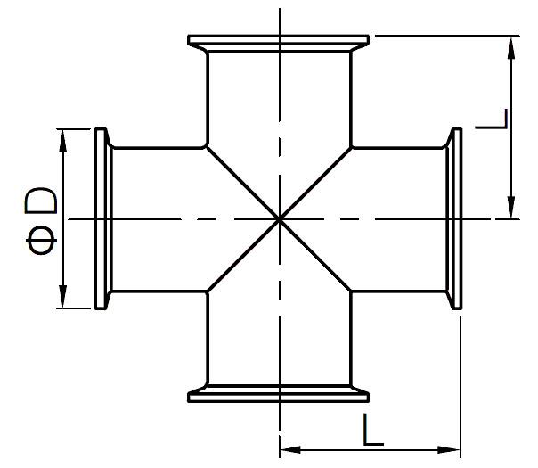 clamp cross - Sanitary Clamp Cross