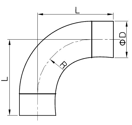 Weld Elbow with straight end