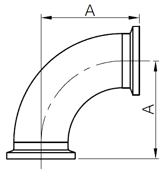 I-line Elbow fittings