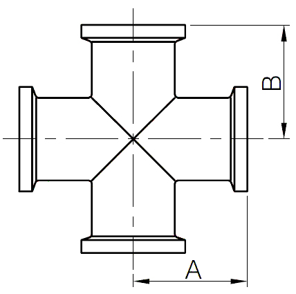 I-line cross fittings