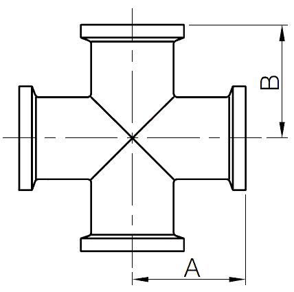 I-line cross fittings
