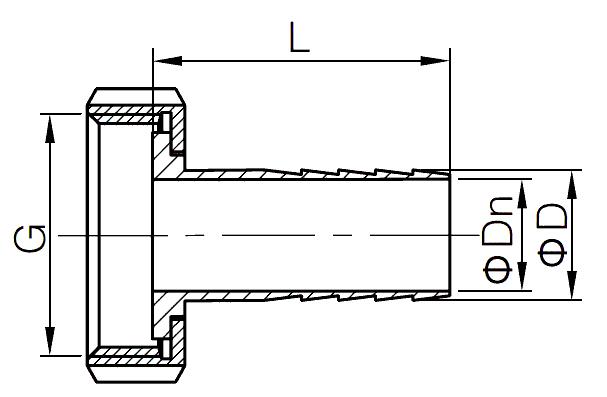 nut hose adapter fitting
