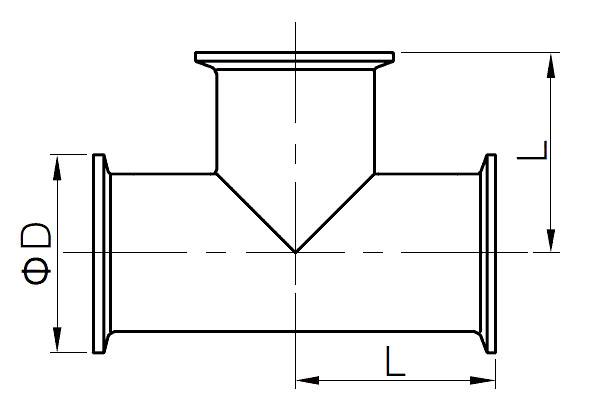 sanitary clamp tee - Sanitary Tri-Clamp Tee – Equal and Reducing