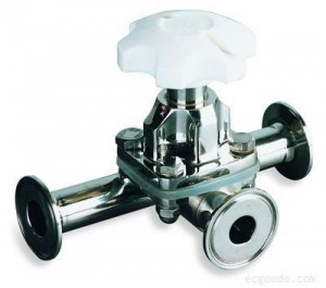 3 way stainless steel sanitary Manual Diaphragm Valve-wellgreen