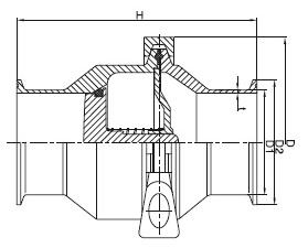 sanitary tri-clamp check valve