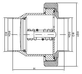 sanitary union type check valve