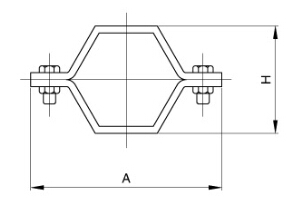 sanitary hexagon Pipe Hanger and tubing support
