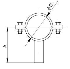 sanitary Tubing Holder Pipe Hanger