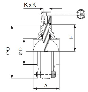 3A Sanitary Welded Butterfly Valve