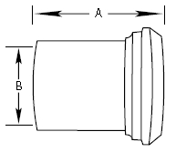 Plain Bevel Seat Tygon Hose Adapter Fittings