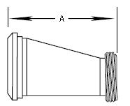 Plain Bevel Seat x Threaded Bevel Seat Eccentric Reducer