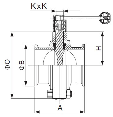 DIN Clamped Butterfly Valve