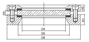 Sanitary Flanged Sight Glass - Sanitary Flow Indicator