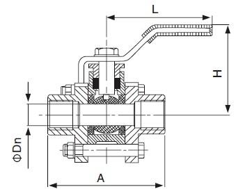 Three-Piece Female Threaded Ball Valve-sanitary 3pcs valve