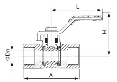 two-Piece Ball Valve-sanitary 2pcs valve