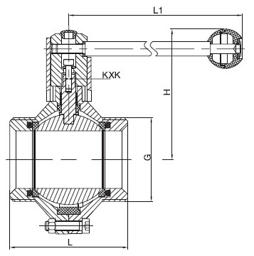 Sanitary Threaded Butterfly-type Ball Valve -3A Series