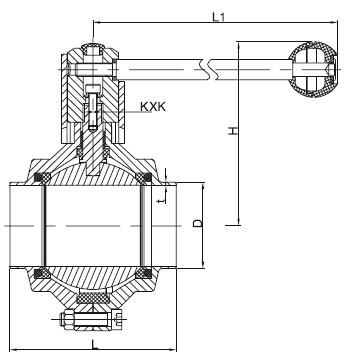 Sanitary Welded butterfly-type ball valve -DIN Series