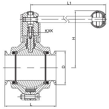 Sanitary Clamped Butterfly-type Ball Valve -DIN Series