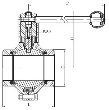 Sanitary Threaded Butterfly-type Ball Valve -SMS Series