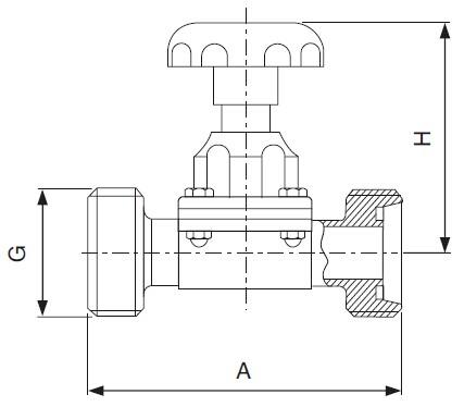 Sanitary Threaded Diaphragm Valve - DIN Series