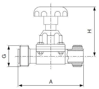 Sanitary Threaded Diaphragm Valve -iso-idf Series