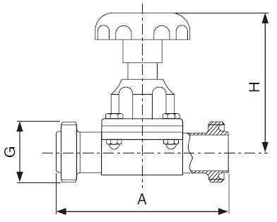 Sanitary Threaded Diaphragm Valve -rtj Series