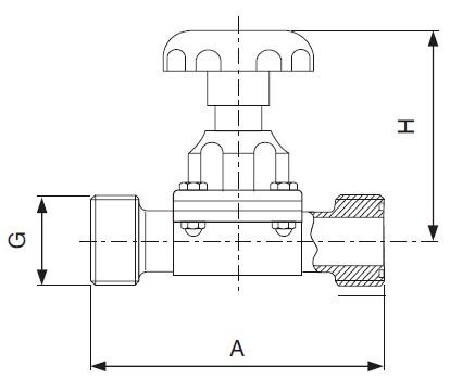Sanitary Threaded Diaphragm Valve - sms Series