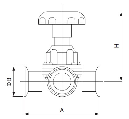 Sanitary Three-Way Diaphragm Valve