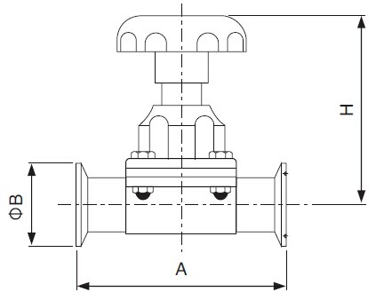 Sanitary Clamped Diaphragm Valve - 3a Series