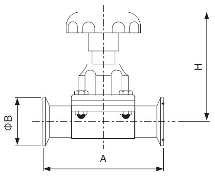 Sanitary Clamped Diaphragm Valve - DIN Series