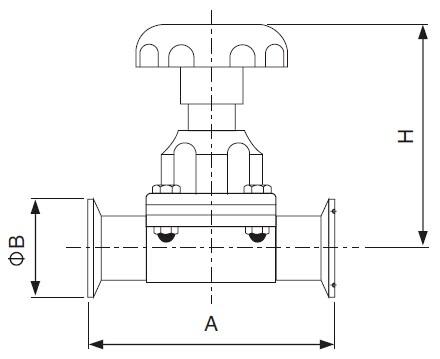 Sanitary Clamped Diaphragm Valve - DIN Series