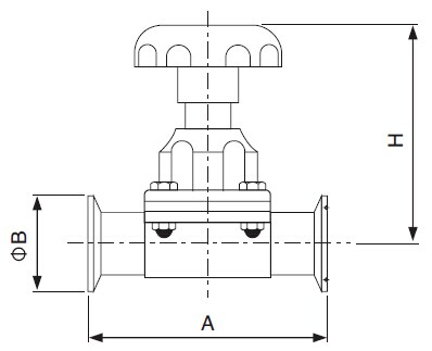 Sanitary Clamped Diaphragm Valve -iso-idf Series