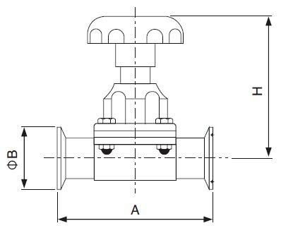 Sanitary Clamped Diaphragm Valve -iso-idf Series