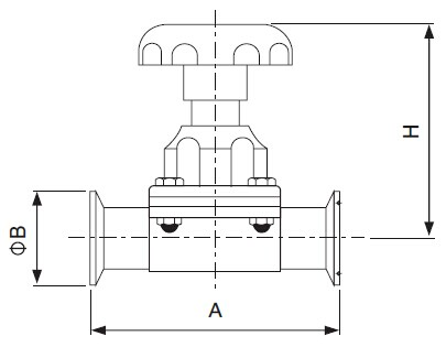 Sanitary Clamped Diaphragm Valve - sms Series