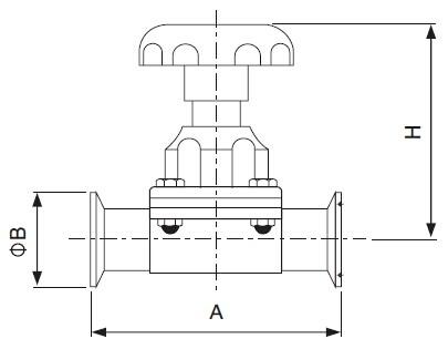 Sanitary Clamped Diaphragm Valve - sms Series