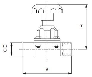 Sanitary Welded Diaphragm Valve - 3a Series
