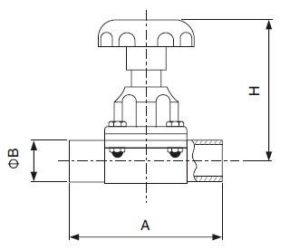Sanitary Welded Diaphragm Valve - DIN Series