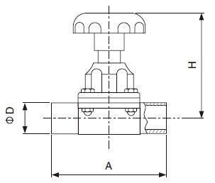 Sanitary Welded Diaphragm Valve - ISO/IDFSeries