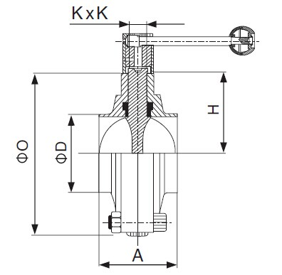 SMS Sanitary Welded Butterfly Valve