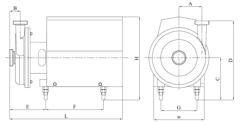 stainless steel sanitary Centifugal Pump - KS series