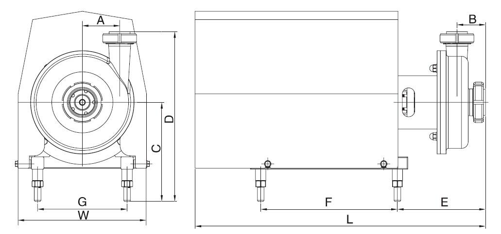 stainless steel sanitary Centifugal Pump - bS series