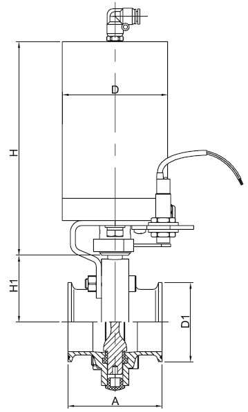 Sanitary Pneumatic Tri-Clamp Ends Butterfly Valve - 3A Series