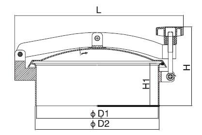 Sanitary Round Manway - Tank Manhole Cover