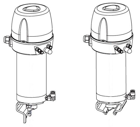 intelligent pneumatic sanitary butterfly valve