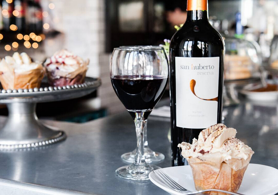 Marlo Scott, owner of Sweet Revenge in New York, likes to pair a peanut-butter cupcake with San Huberto Malbec wine.