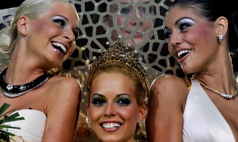 Winners of the Miss Plastic Hungary beauty pageant.