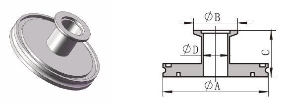ISO-KF Tubulated Adaptor
