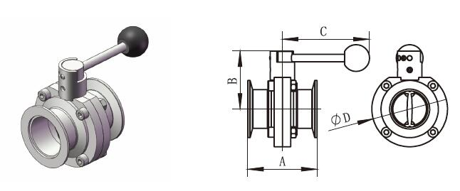 KF Butterfly Valve With Pull Handle