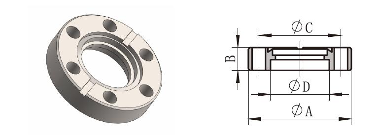 Nonrotatable Flange (CF-F)